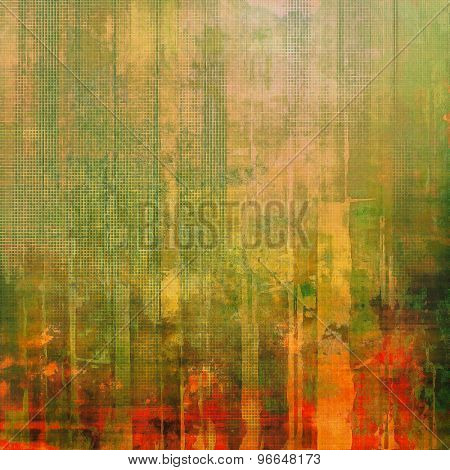 Old-style background, aging texture. With different color patterns: yellow (beige); brown; green; red (orange)