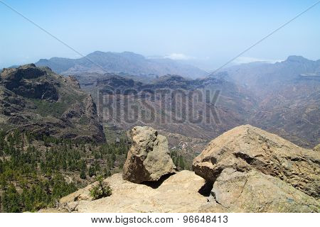 Inland Central Gran Canaria, View South From Roque Nublo