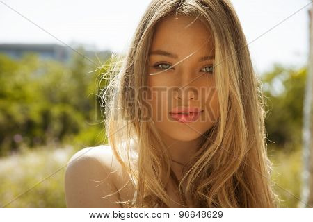 woman with blonde hair