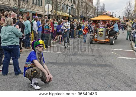 Asheville Pubcycle And Mardi Gras Parade
