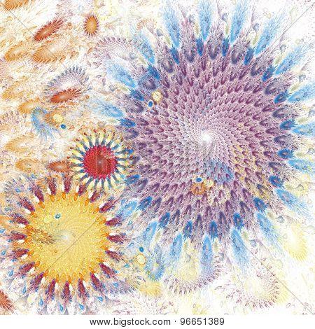 Fractal white swirl