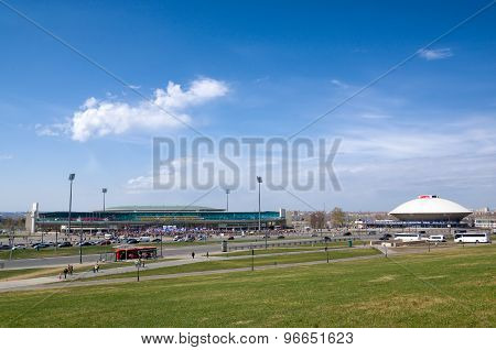 Central Stadium And Kazan State Circus In Kazan, Russia.