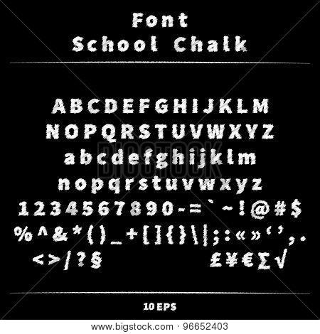 Font school chalk