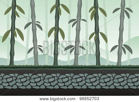 Seamless Bamboo Landscape For Game Background