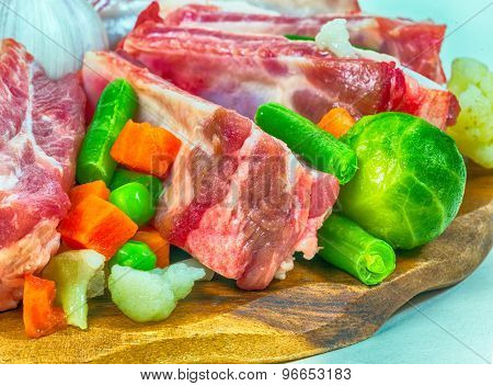 Meat And Vegetables. Fragment