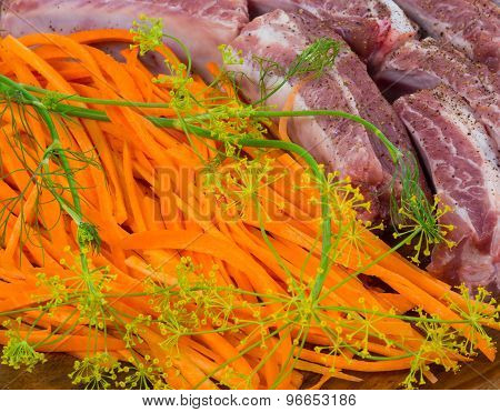 Rib Meat, Carrots, Fennel