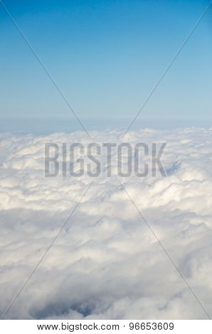 Puffy Cloud With Sunlight And Blue Sky