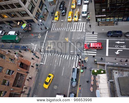 Road crossing New York