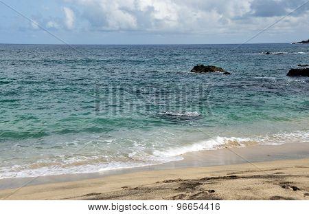 The Beach And Ocean Of Djeu