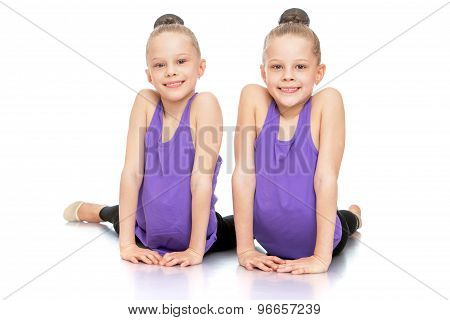 Girls twins in sports