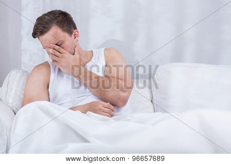 Depressed Young Husband After Argue