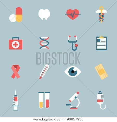 Medical Icons Flat