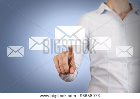 Email Concept on Visual Screen