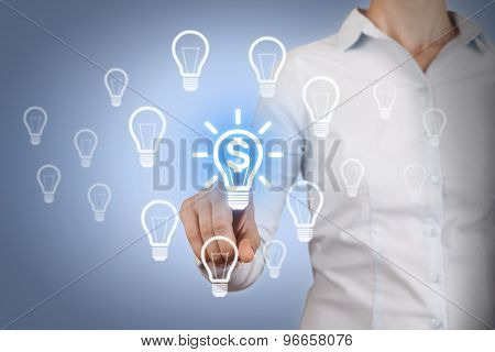 Finance Idea Concept on Touch Screen