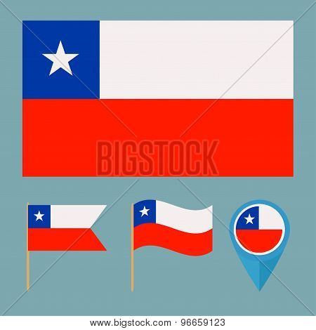 Chile, Country Flag