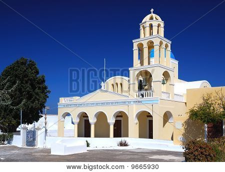 Greek Church In Oia Village, Santorini