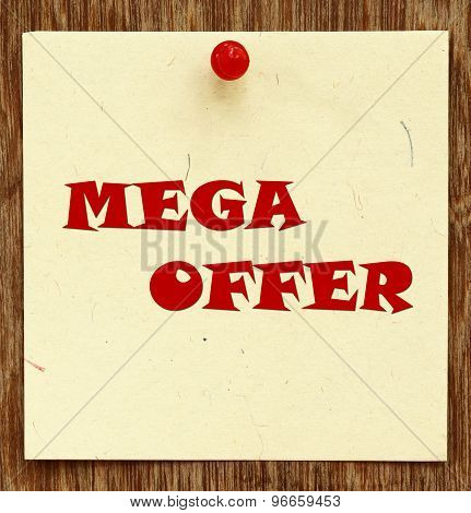 Notice Written Mega Offer