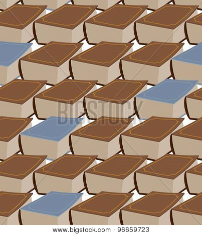 Old Book Seamless Pattern. Vector Illustration Brown And Grey Book