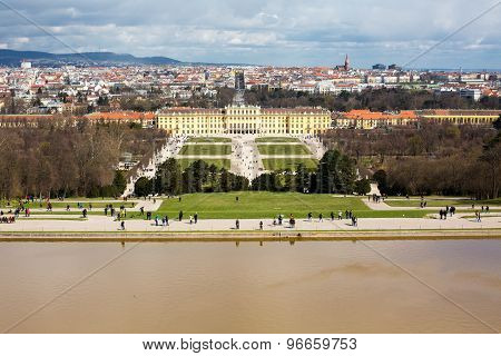 Vienna Panorama And Schonbrunn Palace View From Gloriette