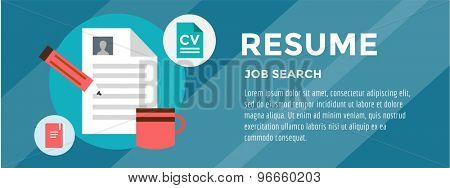 New Job Search. infographic. Recruitment, Office, Staff and Hire. Vector stocks illustration for design