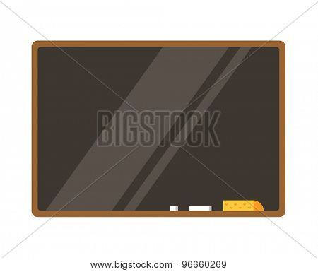 Empty board isolated. Back to school. Education objects, university, college symbols or knowledge, book. Stock design elements.