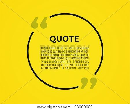 Quote text bubble. Commas, note, message and comment. Vector stock element for design