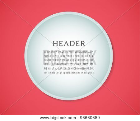 Form blank illustration. Folder, paper, isolated and text. Vector stock element for design
