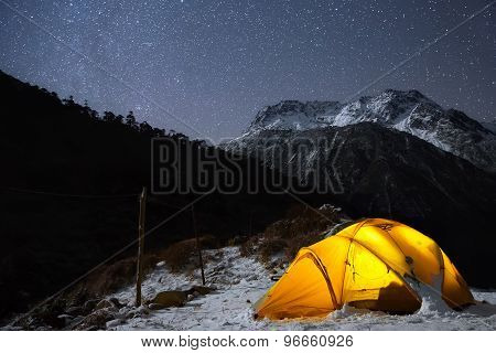 Camping Under The Light Of Billion Stars