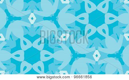 Blue Hexagonal Pattern