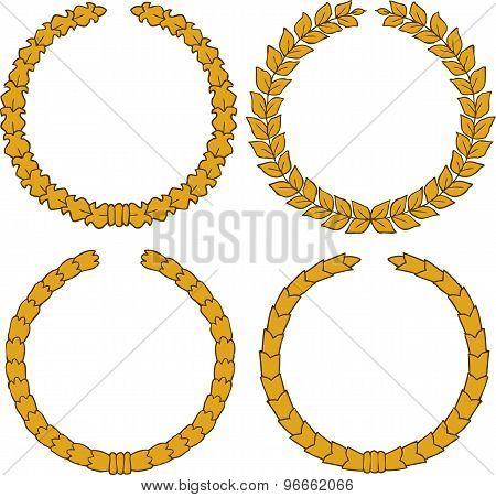 Four Yellow Wreath