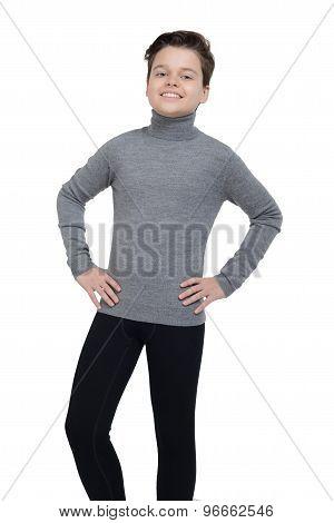 Young Boy In Sportswear