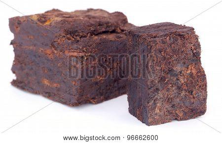Close Up Of Peat Block