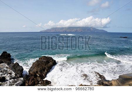 Waves In Djeu, Brava At Sea