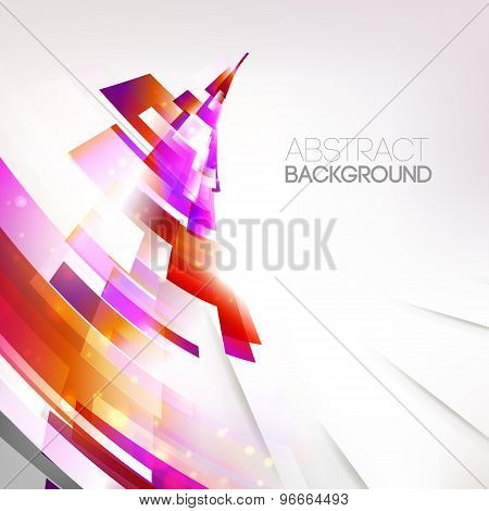 Abstract Pink Colors Vortex, Living Lines Illustration