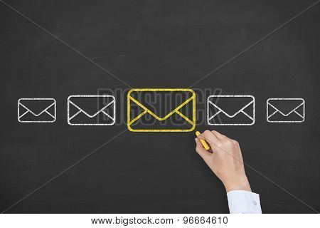 Email Communication Drawing on Blackboard