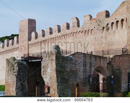 The medieval city Cittadella in Italy