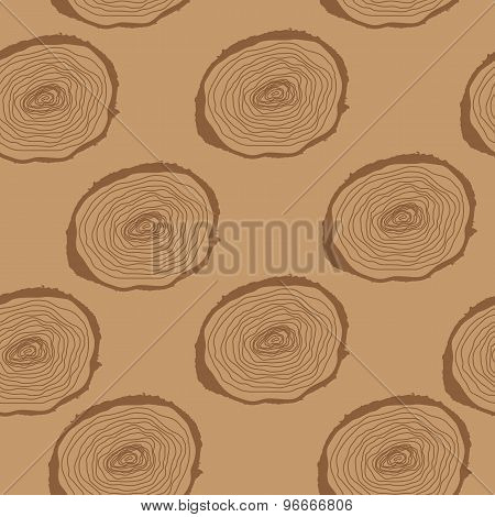 Stump. Muzzle. Seamless Pattern Background. Vector Illustration