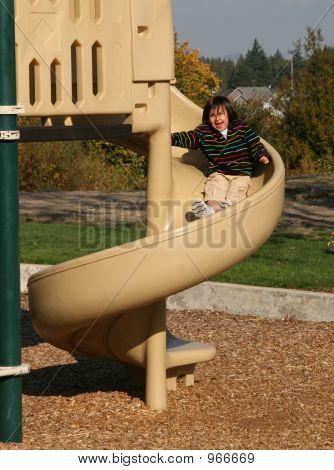 Playing At  Park