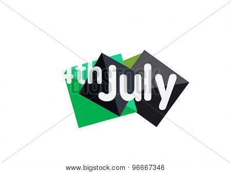4th july geometric banner made of geometric shapes