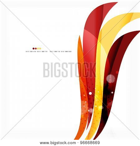 Red orange bright feather lines concept. Abstract background
