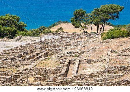 Kamiros Ruins. Rhodes, Greece