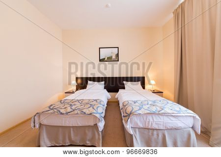 ADLER, RUSSIA - JULY 29, 2014: interior of a hotel room Barkhatnye Sezony Chistye Prudy Resort