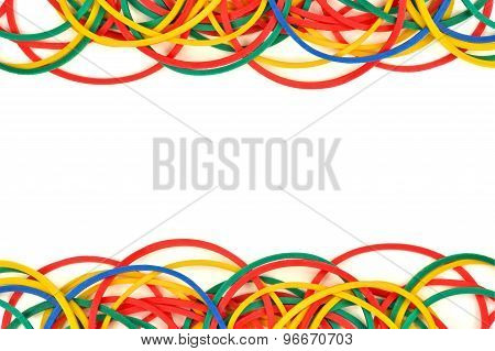 Double border of elastic rubber bands