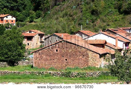 Typical Old Village Cantabria, Spain