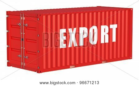 Export Concept With Cargo Container