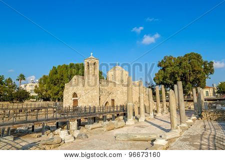 Ancient Ayia Kyriaki Chrysopolitissa Church at Paphos, Cyprus.
