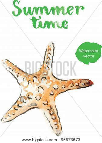 Watercolor Starfish