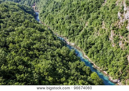 View Of The Tara River Canyon In Montenegro