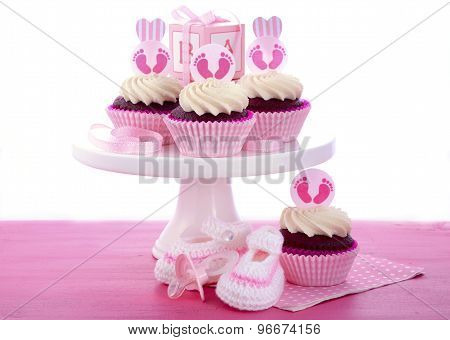 Its A Girl Baby Shower Cupcakes
