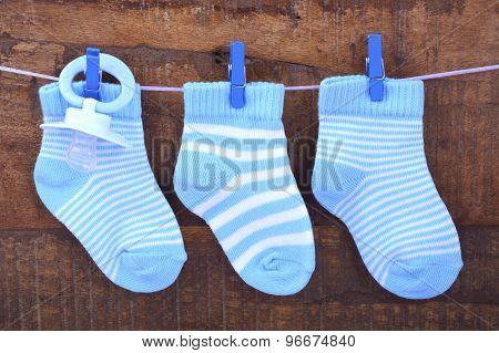 Its A Boy Blue Baby Socks
